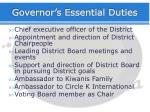 governor s essential duties