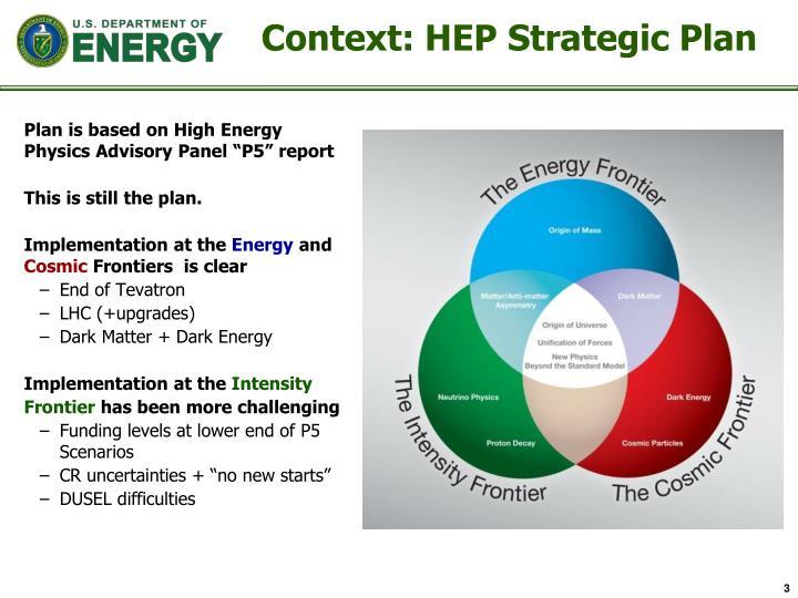 Context hep strategic plan