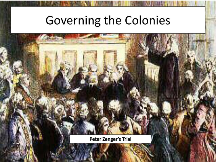 governing the colonies n.