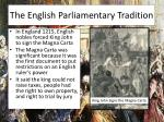 the english parliamentary tradition