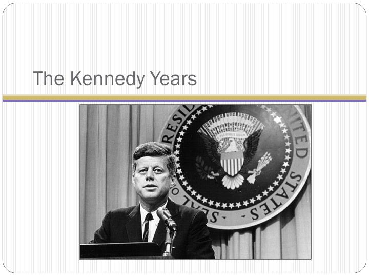 the kennedy years n.