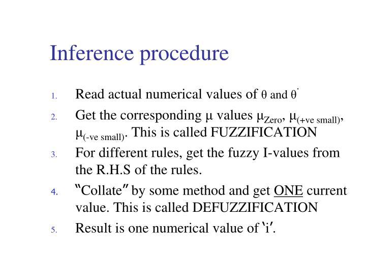 Inference procedure