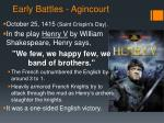 early battles agincourt