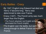 early battles crecy