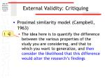 external validity critiquing3