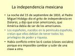 la independencia mexicana