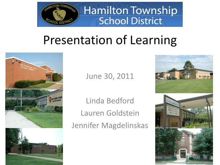 presentation of learning n.