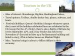 tourism in the uk