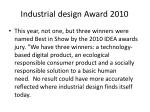 industrial design award 2010