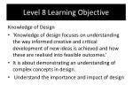 level 8 learning objective