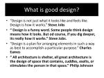 what is good design1