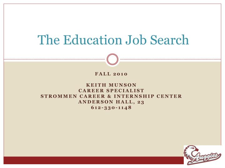 the education job search n.