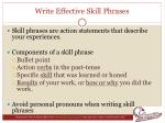write effective skill phrases