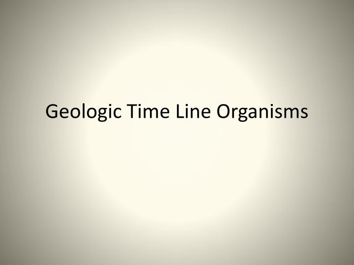 geologic time line organisms n.