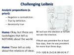 challenging leibniz