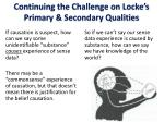 continuing the challenge on locke s primary secondary qualities