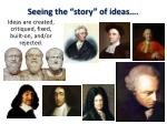 seeing the story of ideas