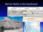 barrier reefs in the southwest