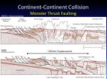 continent continent collision monster thrust faulting