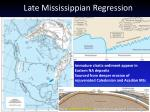 late mississippian regression