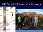 late paleozoic strata of the sedona area