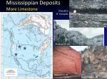 mississippian deposits more limestone