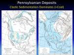 pennsylvanian deposits clastic sedimentation dominates coal