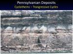 pennsylvanian deposits cyclothems trangressive cycles