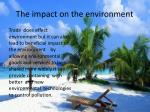 the impact on the environment