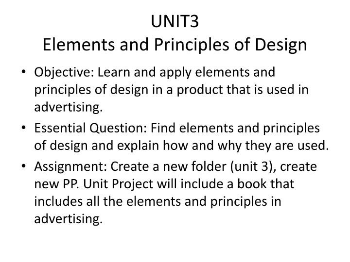 unit3 elements and principles of design n.