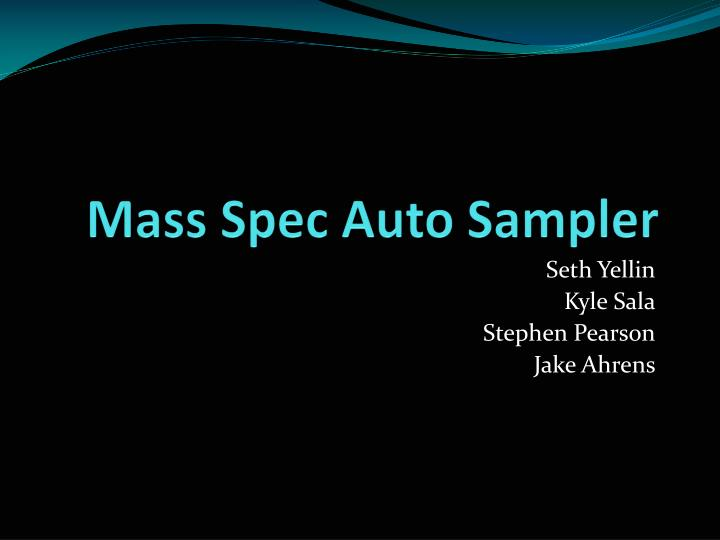 mass spec auto sampler n.