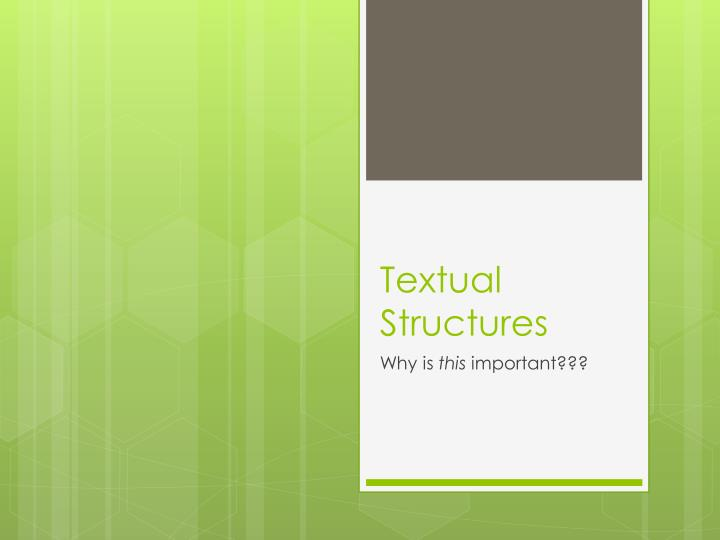 textual structures n.