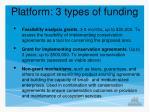 platform 3 types of funding
