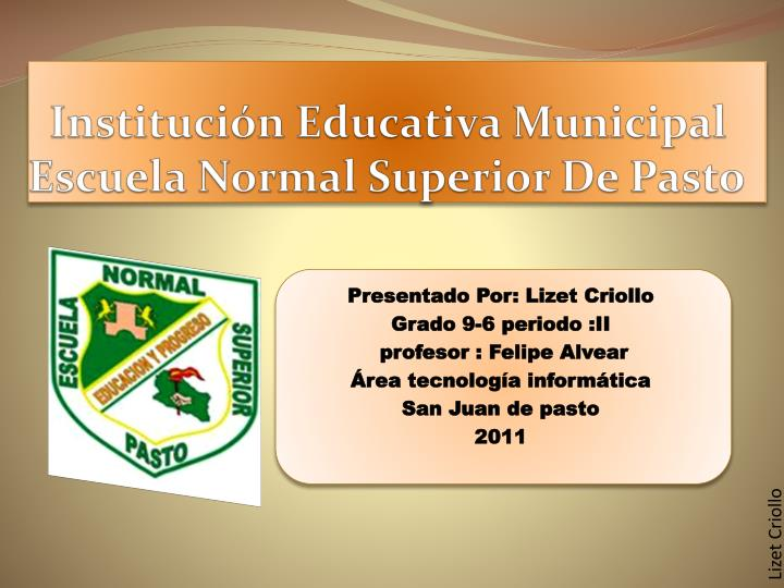 instituci n educativa municipal escuela normal superior de pasto n.
