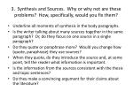 3 synthesis and sources why or why not are these problems how specifically would you fix them