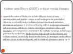 kellner and share 2007 critical media literacy