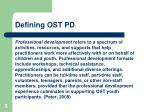 defining ost pd