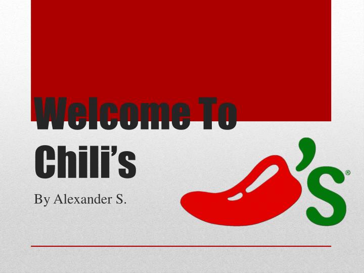 welcome to chili s n.