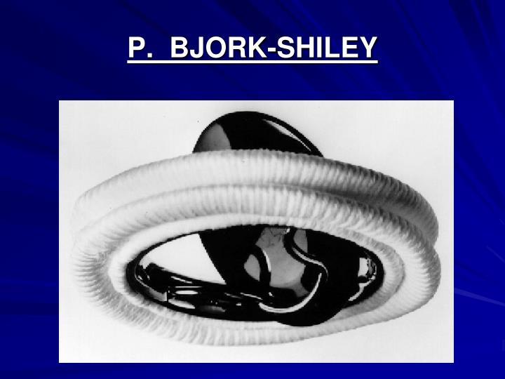 P.  BJORK-SHILEY