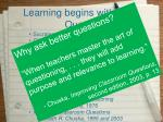 learning begins with questioning