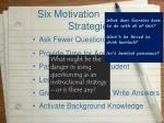 six motivation strategies5