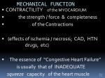 mechanical function
