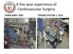 a five year experience of cardiovascular surgery2