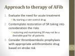 approach to therapy of afib