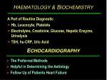 h aematology b iochemistry