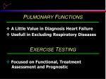 p ulmonary f unctions