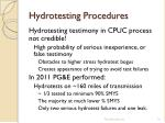 hydrotesting procedures