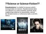 science or science fiction