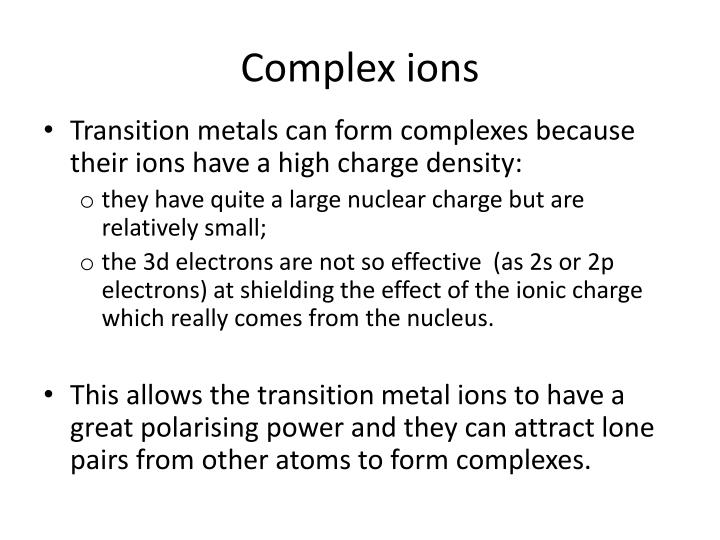 complex ions n.