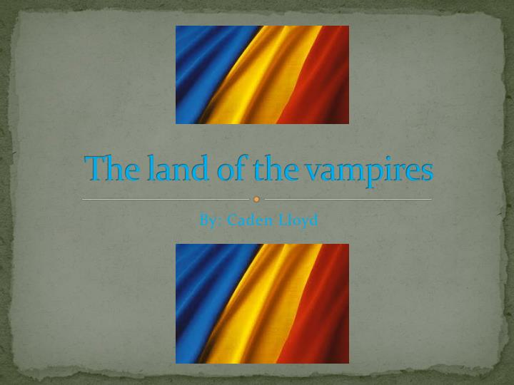 the land of the vampires n.